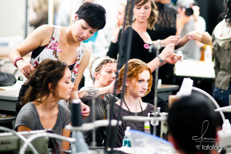 California College of the Arts Fashion Show 2011: First Impression & Backstage