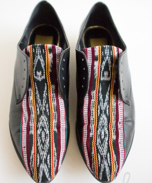 DIY Fabric Accent Oxford Shoes
