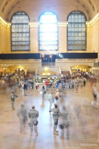 Grand Central Station with tight security