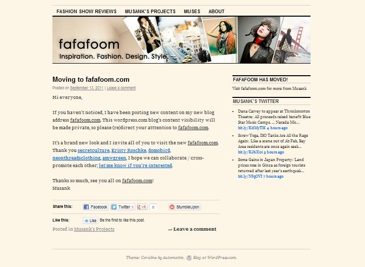 Fafafoom in 2010