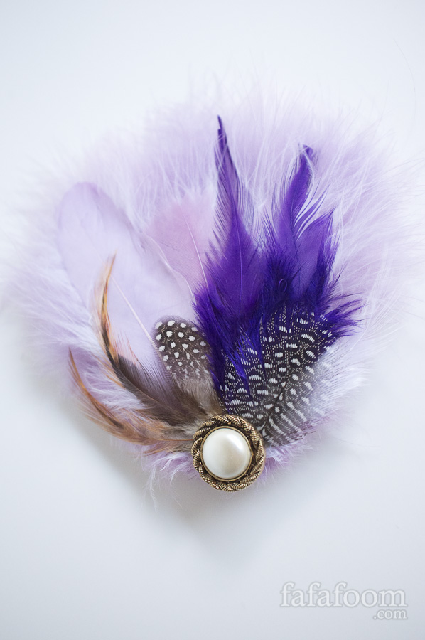 Purple Feather Hair Pin - DIY Fashion Accessories | fafafoom.com