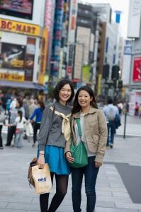 With my friend Misa at Shinjuku, Tokyo