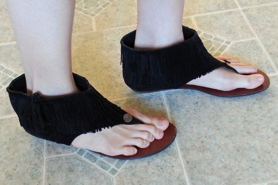 DIY Project Fringe Sandals