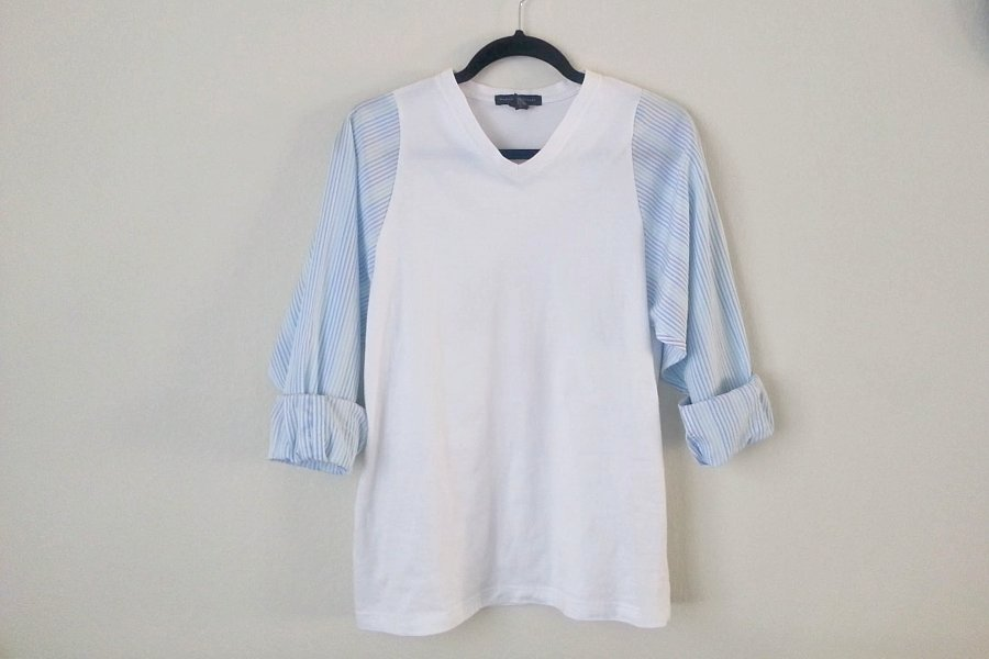 DIY from Menswear: Knit T-Shirt with Dress Shirt Sleeves