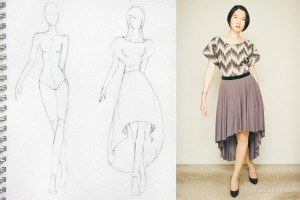 This is the first project in which I sketched, designed, and completed the garment.