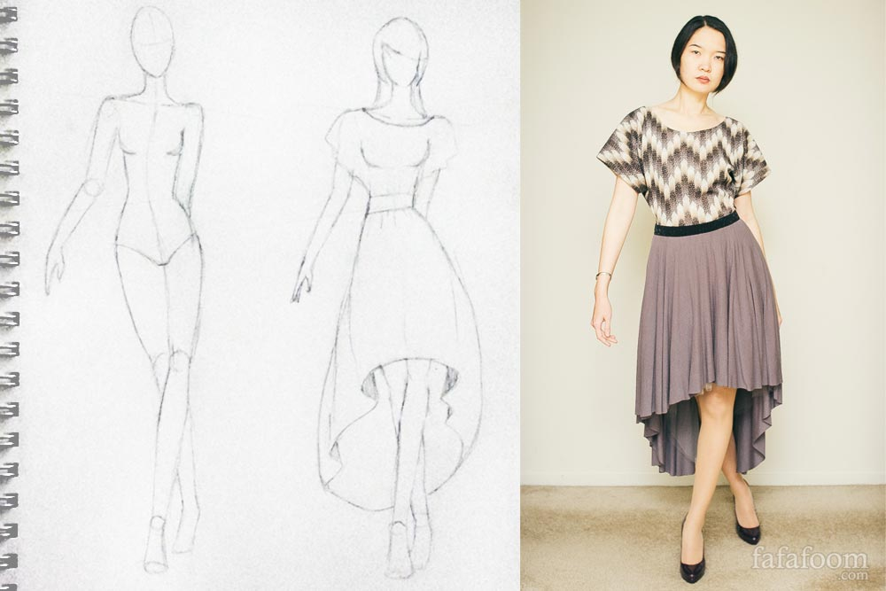 Sewing Project: High-Low Circle Skirt Dress