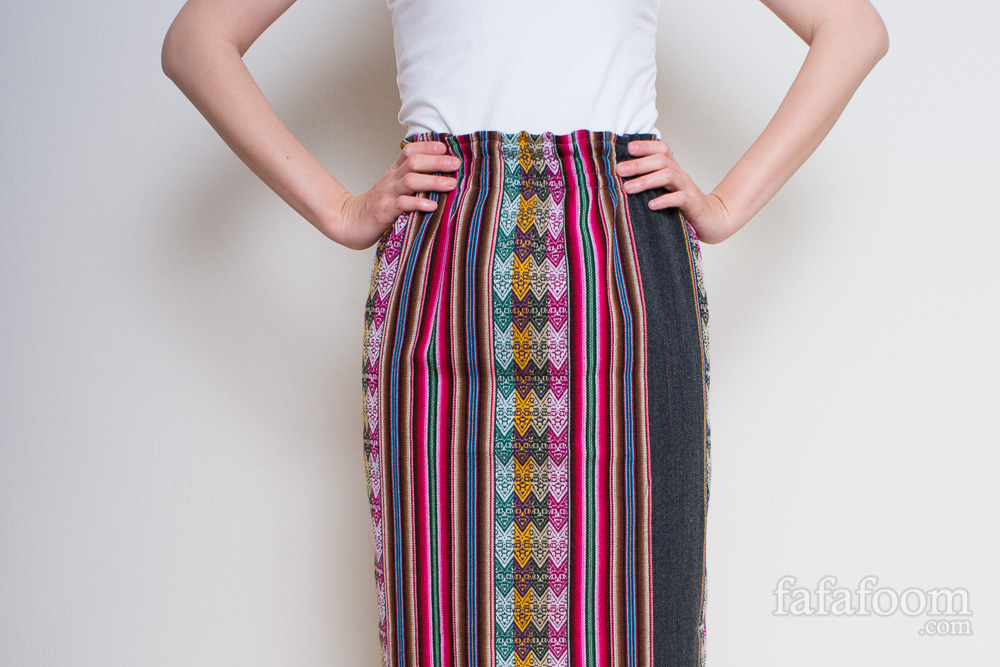 DIY Maxi Skirt from Gorgeous Peruvian Striped Textile