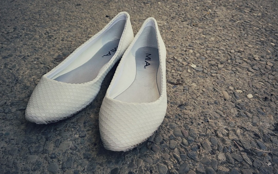 DIY Mesh Covered White Flats