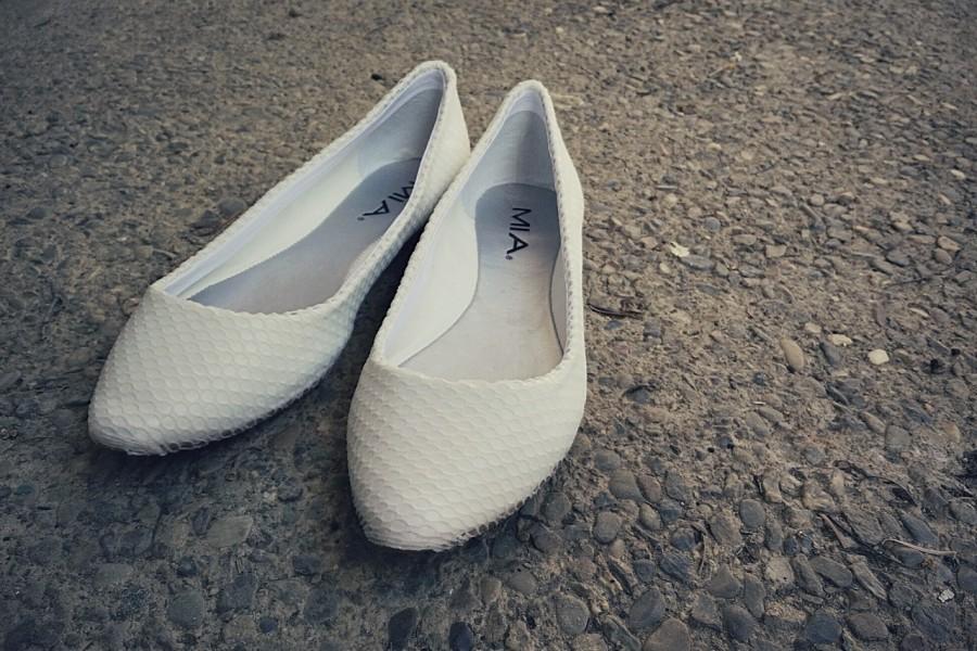 DIY Mesh Covered White Flats