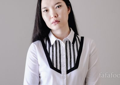 Black Lace Trim Bib Shirt Refashion