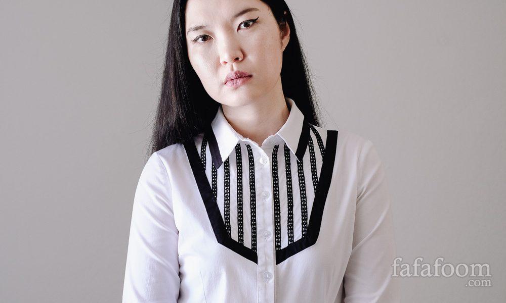 Black Lace Trim Bib Shirt Refashion