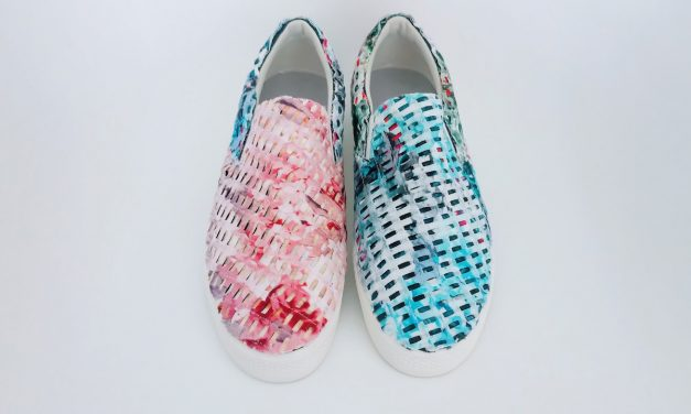 Fabric Collage Shoes