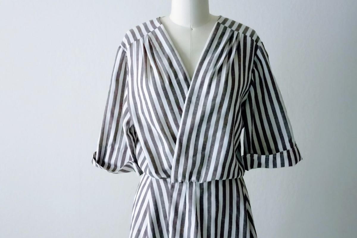 Refashioned Striped Wrap Dress