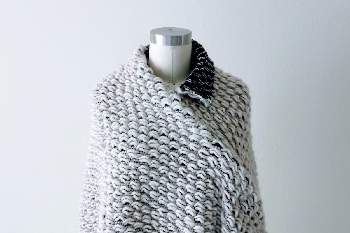 Asymmetrical Knit Cape