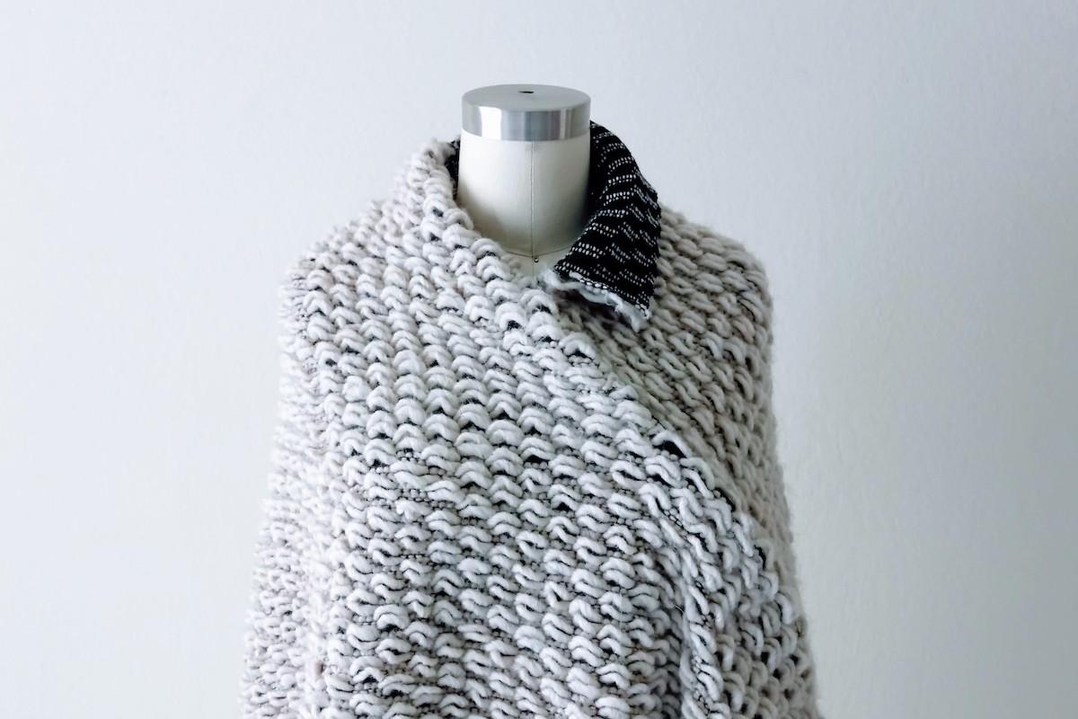 Asymmetrical Knit Cape