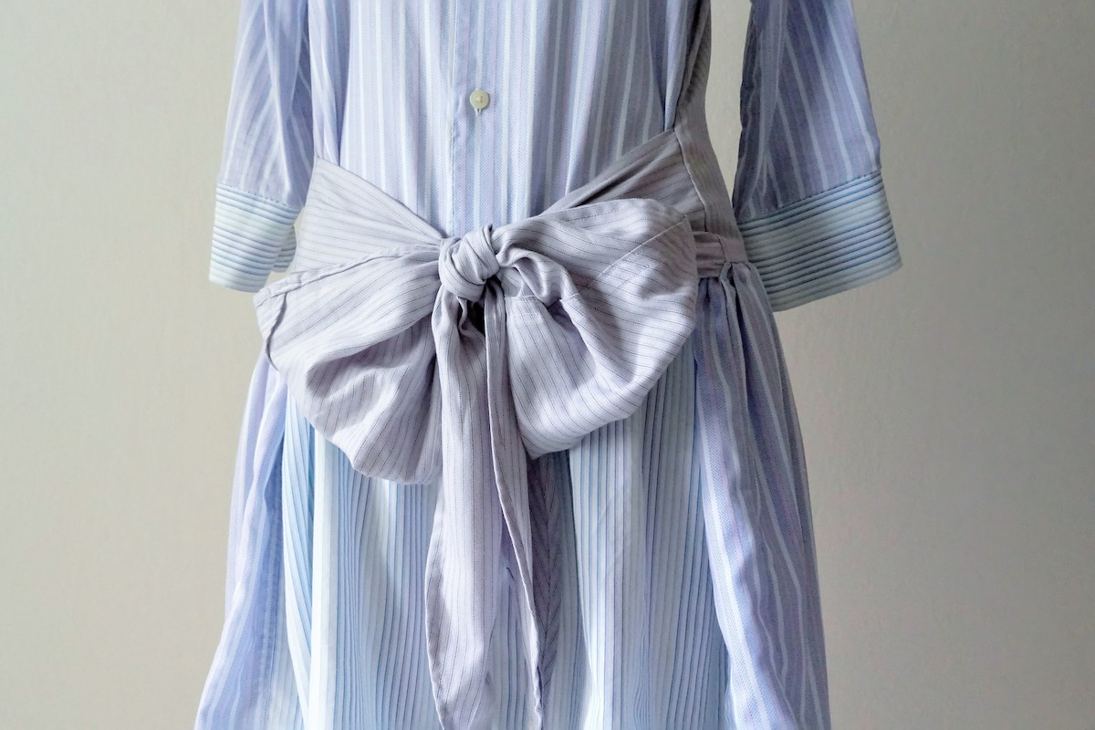 Shirt Dress with Bow Detail
