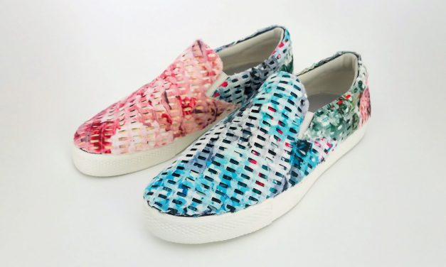 DIY Fabric Collage Shoes