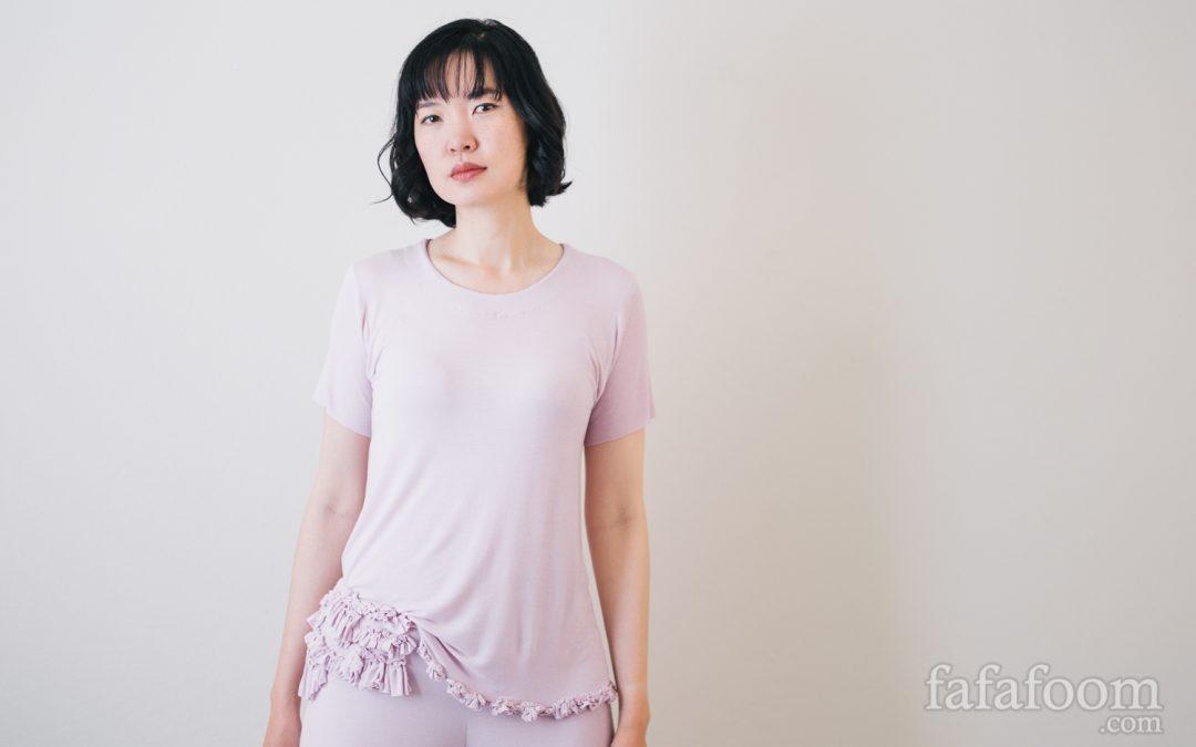 DIY Pink Ruffled Sleepwear Set