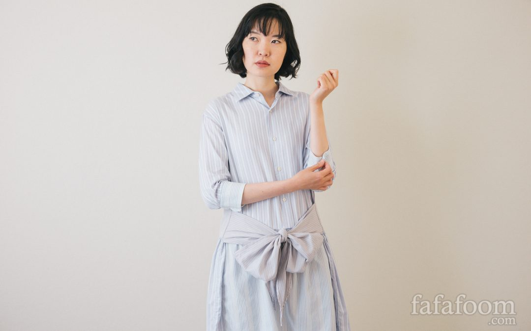 DIY Shirt Dress with Bow Waist Tie