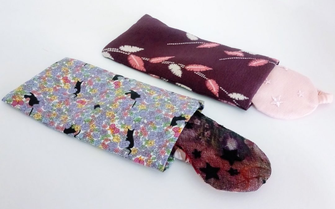 DIY Sleep Eye Mask Bags from Fabric Remnants