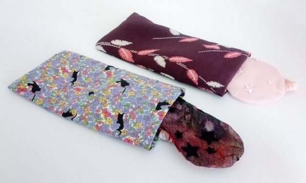 DIY Sleep Eye Mask Bags from Fabric Remnants