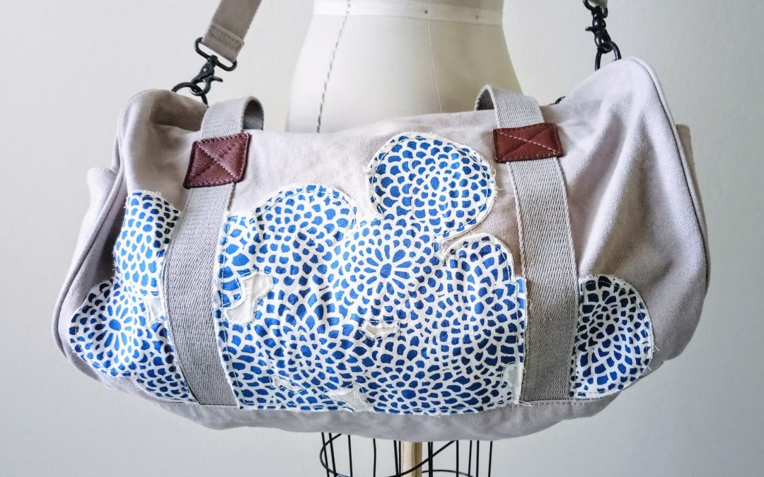 Duffel Bag Personalization with Fabric Appliqués