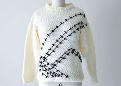 Ribbon Trim Embellished Sweater