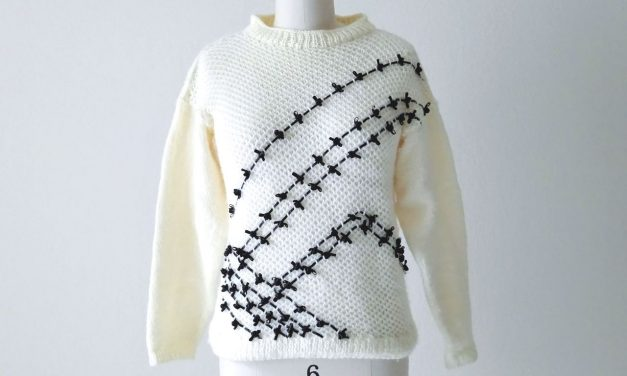 Ribbon Trim Embellished Sweater