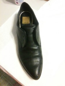 Step 1: black oxford shoes